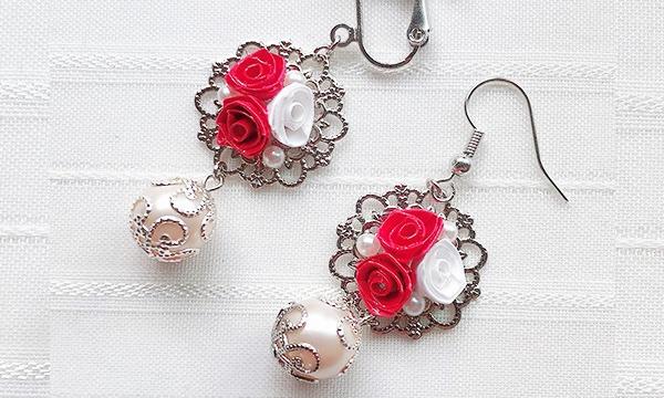 紙で作る薔薇のアクセサリー・ロザフィ講座 イベント画像1
