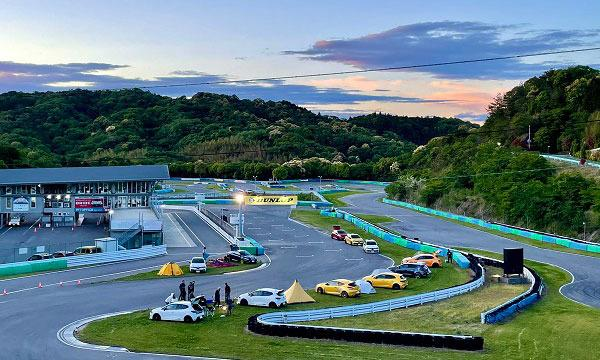 幸田サーキットyrp桐山のサーキットのコース内でキャンプ!イベント