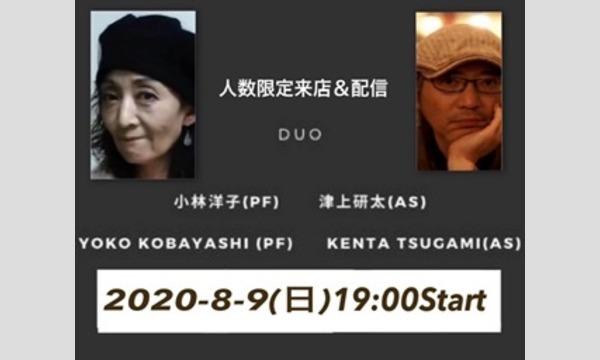 新子安しぇりるの8/9(日)19:00 小林洋子 津上研太Duo @新子安しぇりるイベント