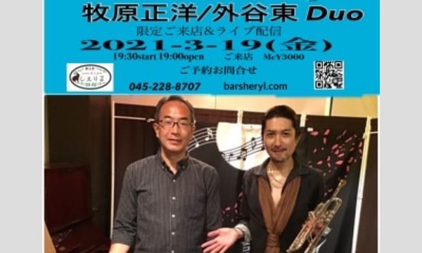3/19(金)19:30牧原正洋DuoLive@新子安しぇりる イベント画像1