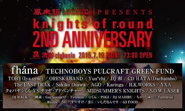 風来組の風来組pre. knights of round 2nd Anniversaryイベント
