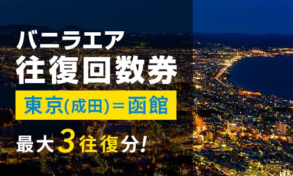 ②【東京(成田)=函館線】バニラエア往復回数券 〈2018/2/1まで・最大3予約分!〉