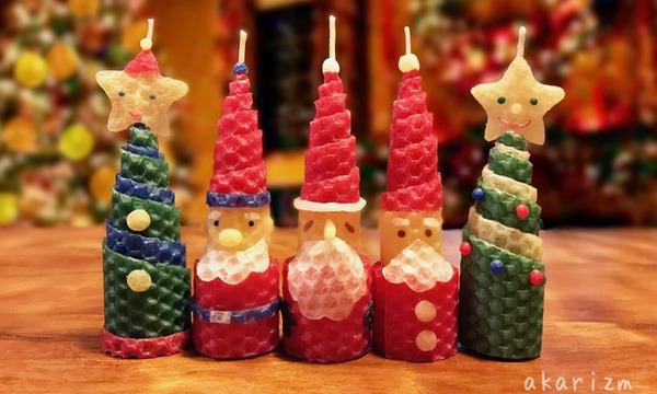 ミツロウシートでクリスマスのくるくるキャンドルづくり(キッズ)/みつばちサミット2019 イベント画像1