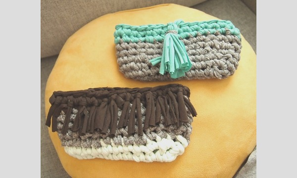 11/5(日)tejasの布から作ろう!リサイクル糸でザクザク編むポーチ/小中千恵 イベント画像2