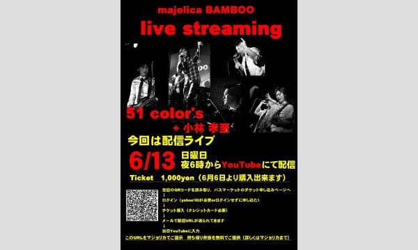 51color's+小林孝至 Majolica Bamboo配信LIVE